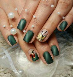 marienkäfer motive nageldesign schmetterling grün tiger eye nails matt #nail #design