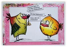 ' Stempelgaudi ': Bird Crazy - #50 - ... Spruch zum Montag ...
