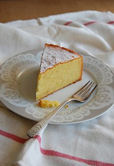 """Easy almond cake, from one of Nigella's cookbooks, the wonderful """"How to Be a Domestic Goddess""""."""