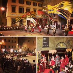 The celebration of the Historical Medieval Wedding yesterday night was a big success with music, fire and flag-throwers show! Today at 4 pm don't miss the Crossbow Comp of the Archidado...#Cortona #archidado #medioevo #tradition