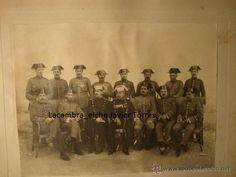 HISTORICA FOTOGRAFICA ORIGINAL OFICIALES MILITAR ESPAÑA MILITARES GUARDIA CIVIL, ALICANTE 1911