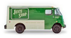 Juice Shop - Juice truck making fresh, organic juice deliveries to your door 7 days a week in San Francisco (5$) and Marin (prices vary).  WFN wild list favorite!