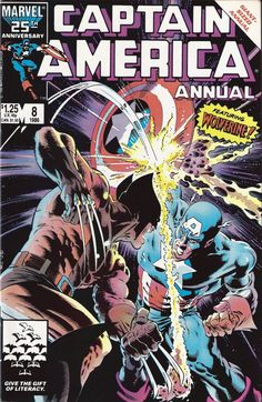 Captain America Annual 8. Wolverine vs. Captain America. One of the most iconic Marvel comics covers of all time.