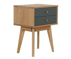 Helsinki 2 drawer bedside - Stacks Furniture Store