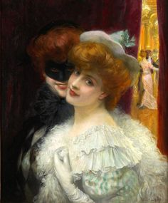 Le bal masqué (The Masked Ball), Albert Lynch (1851 - 1912), [Public domain], via Wikimedia Commons