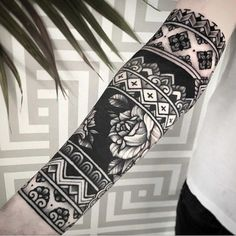 an ornamental tattoo artist, Jack Peppiette was Continue Reading and for more tattoo design → View Website Black Sleeve Tattoo, Tribal Sleeve Tattoos, Forearm Tattoos, Body Art Tattoos, Tattoo Sleeves, Hand Tattoos, Black Work Tattoo, Black Band Tattoo, Geometric Sleeve Tattoo
