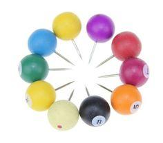 Billiard push pins