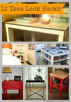 Ikea Lack Table Hacks {12 Inspiring DIY Projects} diy ikea #creativityelevated