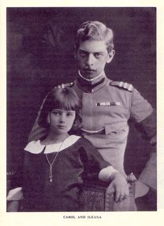 HRH Princess Ileana of Romania with her brother King Carol II. of Romania Von Hohenzollern, Romanian Royal Family, Young Prince, Prince And Princess, Royal Weddings, Her Brother, Ferdinand, Queen Victoria, British Royals