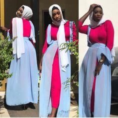 Modern Hijab Fashion, Muslim Fashion, Kimono Fashion, Asian Fashion, Modest Fashion, African Maxi Dresses, Latest African Fashion Dresses, African Dresses For Women, Islamic Clothing