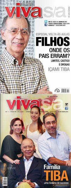Direção de arte com Içami Tiba na capa de revista