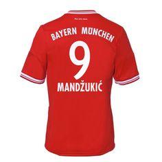 13-14 Bayern Munich #9 Mandzukic Home Soccer Jersey Shirt