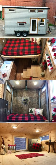 With its elevated bed system and loft, the 18-foot Winter Haven by Incredible Tiny Homes offers two sleeping areas in a compact design.