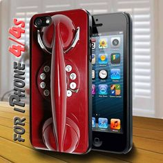 Red Payphone - design case for iphone 4,4s | shayutiaccessories - Accessories on ArtFire
