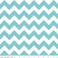 Riley Blake Designs - Chevron - Chevron in Aqua