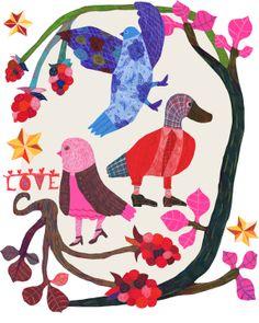 Birds love and blackberries Monika Forsberg/ Walkyland