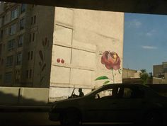persianjasmineflower:  art on buildings is something you spot a lot in Tehran and its one of my fav things in the world  Tehran Iran.