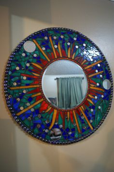 Circle mosaic Mirror by FireFliesInk on Etsy, $350.00