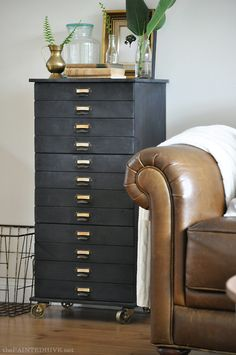 Budget Flat Pack Hack: DIY Chalkboard Faux Specimen Drawers | The Painted Hive