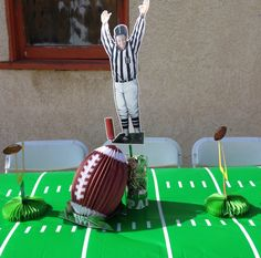 Football party centerpieces