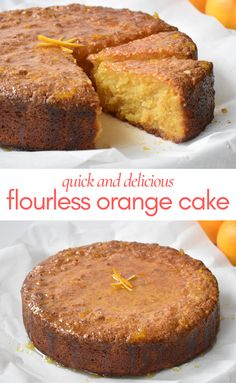 Orange Syrup Cake, Orange And Almond Cake, Flourless Orange Cake, Flourless Cake, Easy Cake Recipes, Baking Recipes, Dessert Recipes, Gluten Free Desserts, Gluten Free Cakes