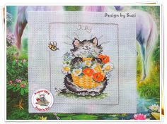 Project 2014: 21/40 July (Margaret Sherry-Calendar Cats)