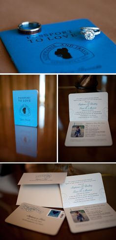 """""""Passport to Love"""" Invite for a destination wedding! So awesome! For the Tahoe Rim Trail, no less :) @Lake Tahoe Wedding & Honeymoon Association"""