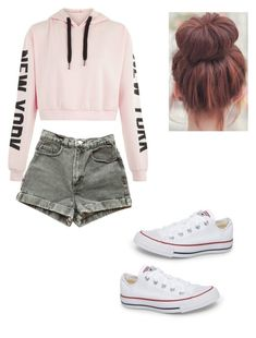 """Untitled #21"" by haileymagana on Polyvore featuring American Apparel and Converse"