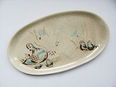 Red Wing Bob White Serving Platter 19 Inches Long  by OldLikeUs, $55.00