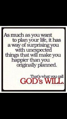 God's Will quote