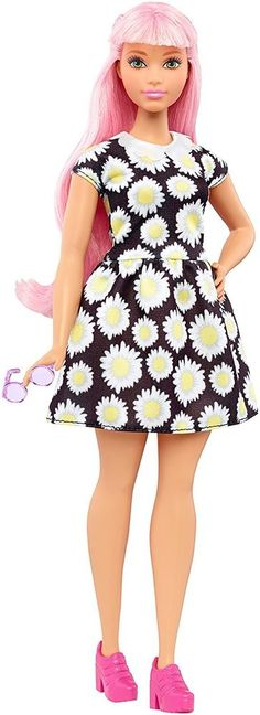 NEW! 2016 Barbie Evolution Fashionistas Curvy Pink Hair Daisy Doll #Mattel