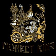In Cambodian folktales, Hanuman was a very close aid of the Prince. King Tee, Monkey King, Hanuman, Custom Clothes, Colorful Shirts, Prince, Artwork, T Shirt, Work Of Art