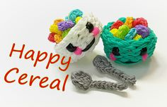 Happy Cereal (in a bowl) Tutorial by feelinspiffy (Rainbow Loom)