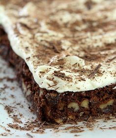 Chocolate Chip Brownies with Cream Cheese Frosting from Creative-Culinary.com
