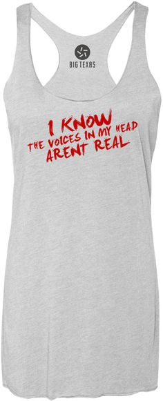 The Voices in My Head (Red) Tri-Blend Racerback Tank-Top