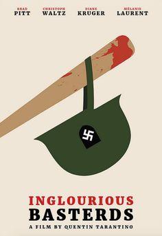 Inglourious Basterds (2009) ~ Minimal Movie Poster by Polar Designs #amusementphile Descubra 25 Filmes que Mudaram a História do Cinema no E-Book Gratuito em http://mundodecinema.com/melhores-filmes-cinema/