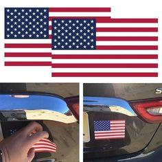 1Pcs USA American Flag Sticker Car SUV Bumper Badge Car Decal Decor Car Stickers, Car Decals, Flag Painting, Usa Flag, Bald Eagle, American Flag, Badge, Display, Liberty