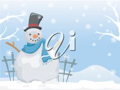 Background Illustration Featuring a Snowman