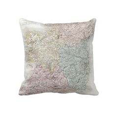 Vintage Map of Ireland (1850) Throw Pillows from Zazzle.com $62.40