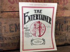Vintage Estate 1972 The Entertainer Rag Time Two by MADVintology, $4.00