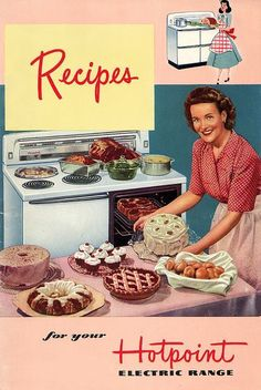 Items similar to Recipes For Your HotPoint Electric Range Cookbook Vintage on Etsy Vintage Pictures, Vintage Images, Vintage Posters, Retro Recipes, Vintage Recipes, Retro Ads, Vintage Advertisements, Retro Advertising, Advertising Campaign