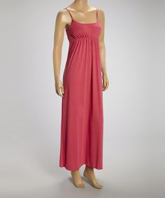 Look what I found on #zulily! Coral Maxi Dress by Star Vixen #zulilyfinds
