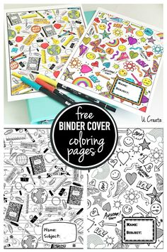 22 of the coolest back to school printables Free printable binder cover coloring doodle pages School Coloring Pages, Free Coloring Pages, Coloring For Kids, Printable Coloring Pages, Doodle Coloring, Coloring Sheets, Coloring Books, School Book Covers, School Binder Covers