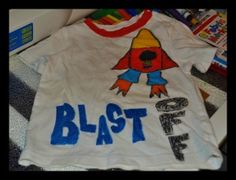 How to turn a stained old t-shirt into one that will be the envy of the playground...without sewing!