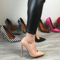 SHOES STORE – ST fashion shop Leopard Heels, White Heels, Shoes Heels Pumps, Stiletto Heels, Toe Shoes, Stilettos, Extreme High Heels, Classic Pumps, Lady