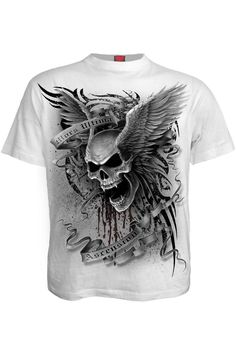 Spiral Direct LIVE LOUD Long Sleeve Baggy Top//Gothic//Rock//Metal//Skull//Guitar//Tee