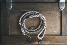 Sand brown rope dog lead / leash  Made in by AnimalsInCharge