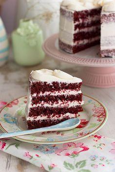 tarta red velvet Drinks Alcohol Recipes, Drip Cakes, No Bake Cake, Vanilla Cake, Cake Recipes, Bakery, Food And Drink, Cooking Recipes, Sweet