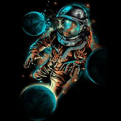space impact is a T Shirt designed by fourscore to illustrate your life and is available at Design By Humans