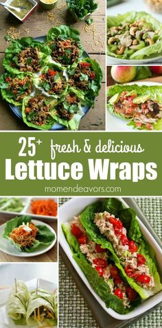 Lettuce Wraps! Fresh & delicious lettuce wrap recipes - perfect meal for low-carb, keto, paleo, gluten-free, Weight Watchers, 21 Day Fix.